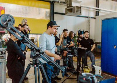 Videoproduktion Isenseefilm bei der Arbeit