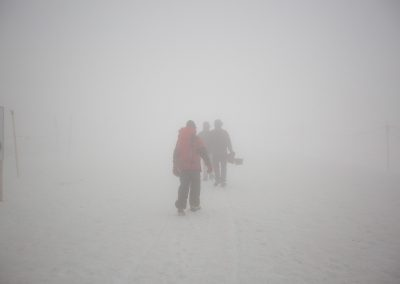Videoproduzenten aus Zürich im Schnee